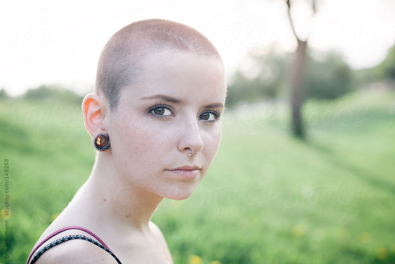 Girl with Shaved Head by Erik Naumann