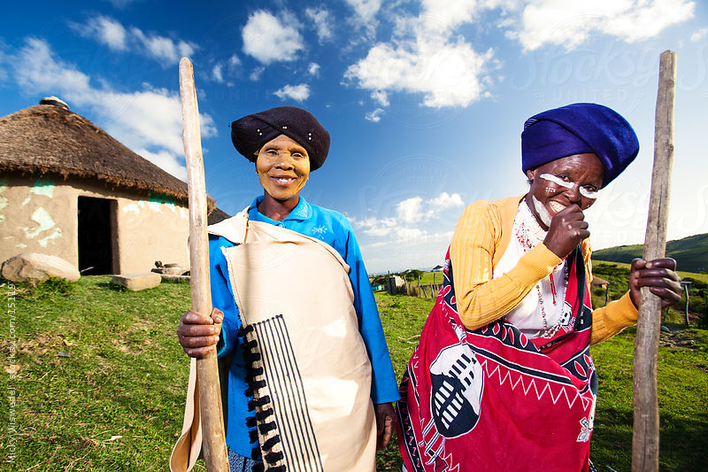 Two African Rural Xhosa Women by Mickey Wiswidel