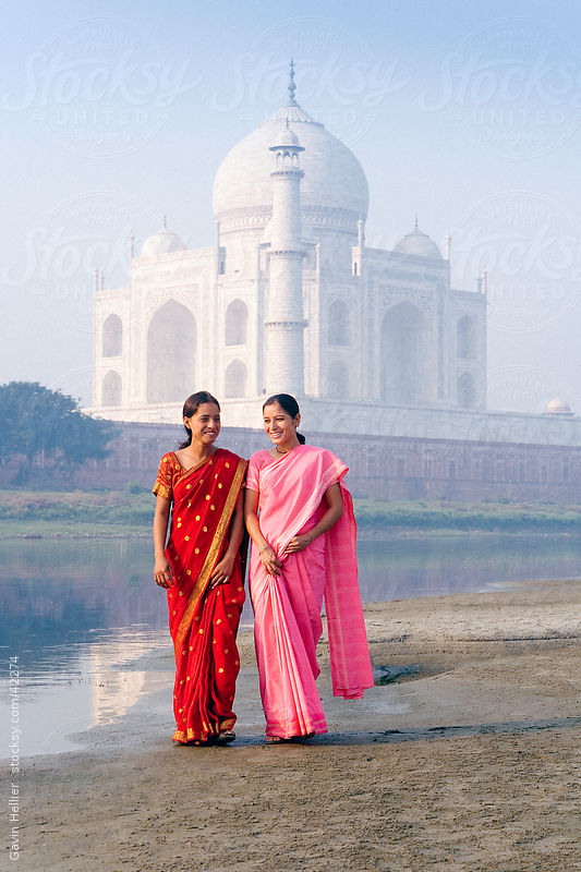 India, Uttar Pradesh, The Taj Mahal by Gavin Hellier