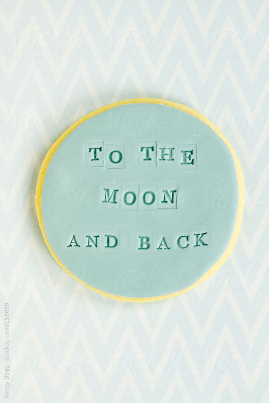 To The Moon and Back cookie by Kirsty Begg