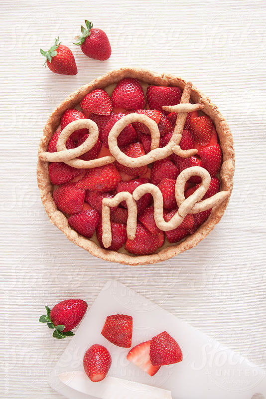 "Straberry Pie ""Eat me"" by Natasa Mandic"