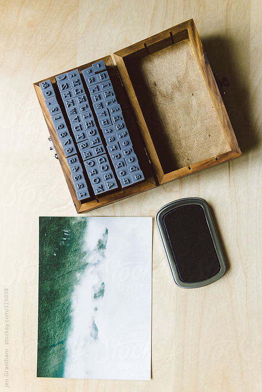 Craft Project: using rubber stamps to write on photographs by Jen Grantham