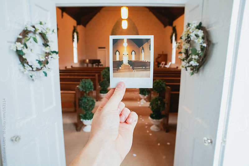Polaroid of Wedding Chapel by Gabrielle Lutze