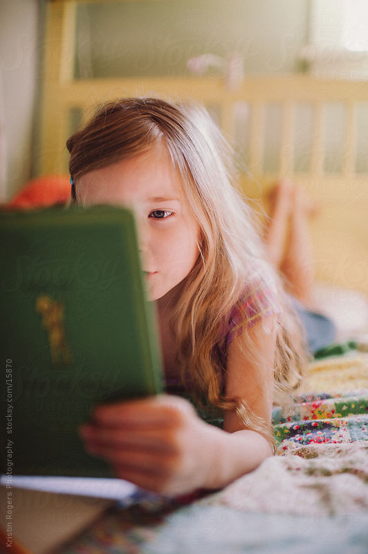 Reading Girl by Kristin Rogers Photography