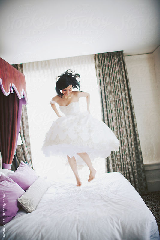 Bed Jumping Bride by Kevin Russ