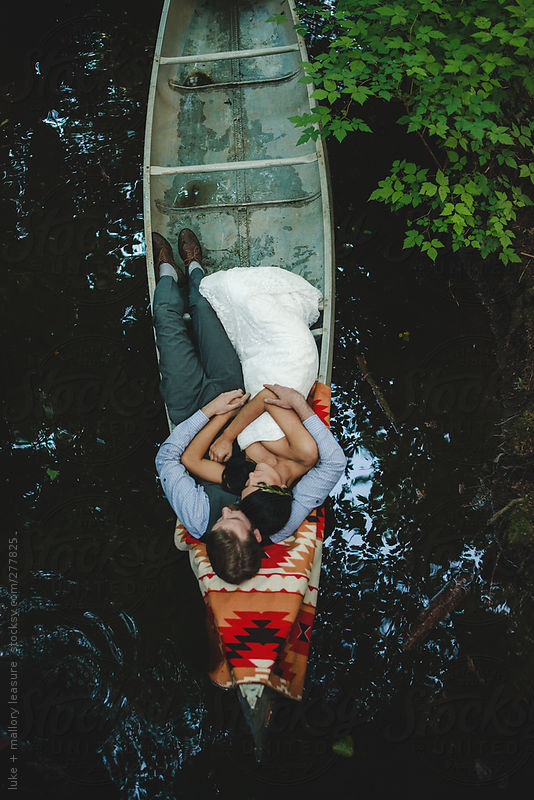 Canoe Ride on Wedding day by Luke + Mallory Leasure