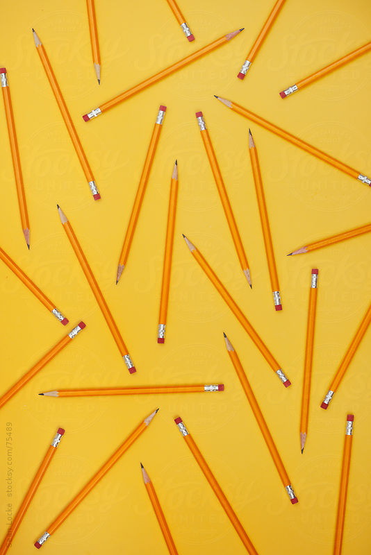 Pencils: Pattern of Pencils from Overhead by Sean Locke