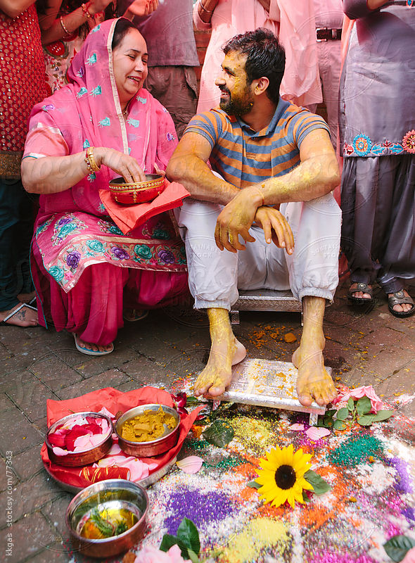 Mayian ceremony during a Sikh wedding by kkgas