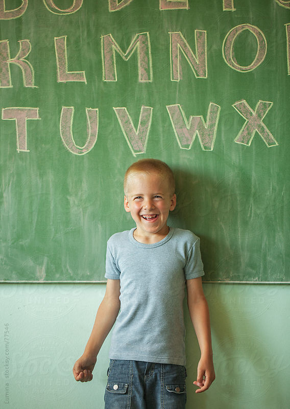 Cheerful Caucasian Schoolboy by Lumina