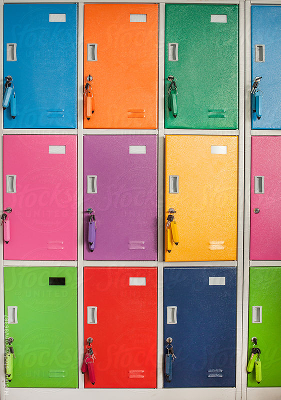 Colorful school locker. by Mosuno