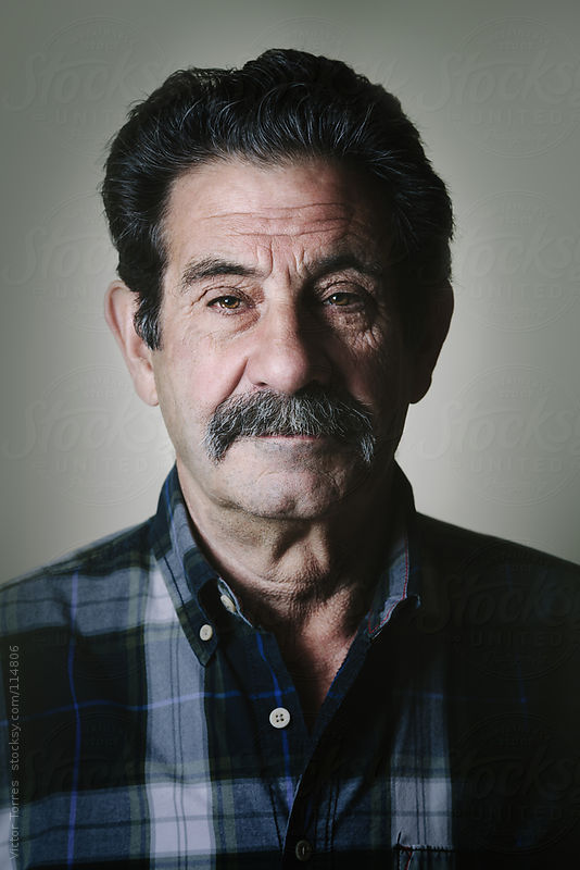 Portrait of a Senior Serious Man by Victor Torres