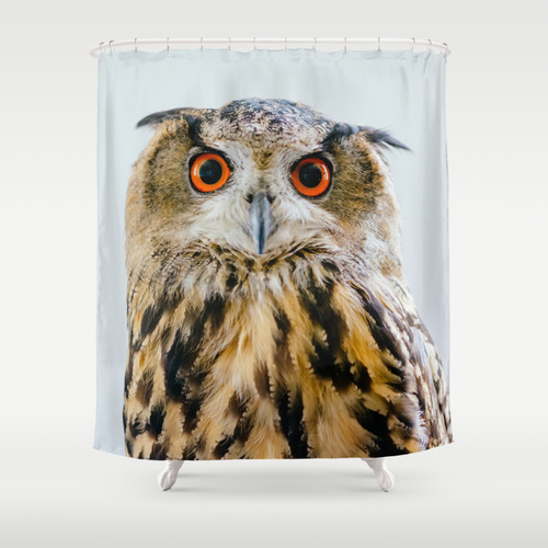 Owl Shower Curtain @ Society6