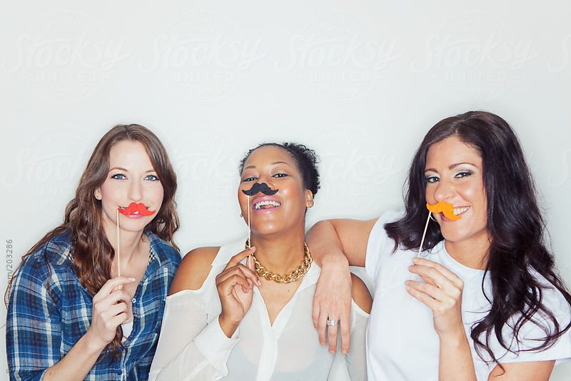 Portraits: Group Of Friends With Moustaches by Sean Locke