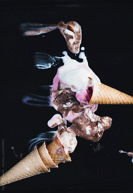 Ice cream melting by Tatjana Ristavic