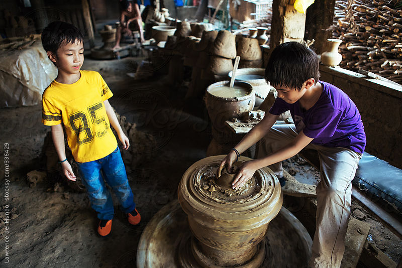 Pottery making session by Lawrence del Mundo