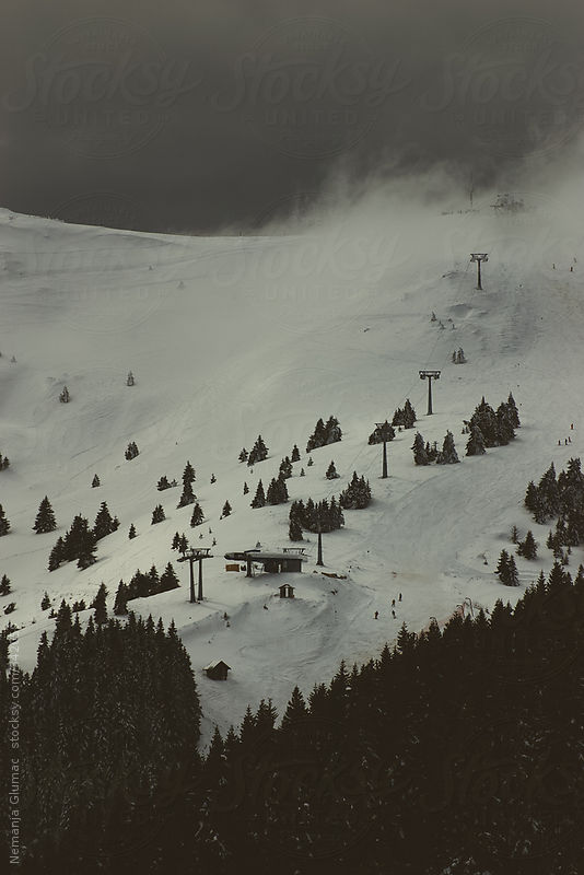 Ski Resort and Mountain Kopaonik in Serbia During Heavy Storm by Nemanja Glumac