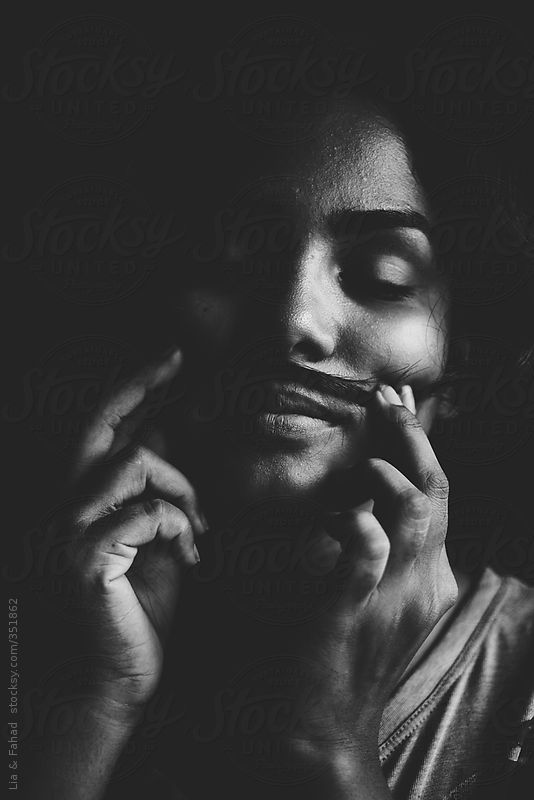 girl with mustache by Lia & Fahad