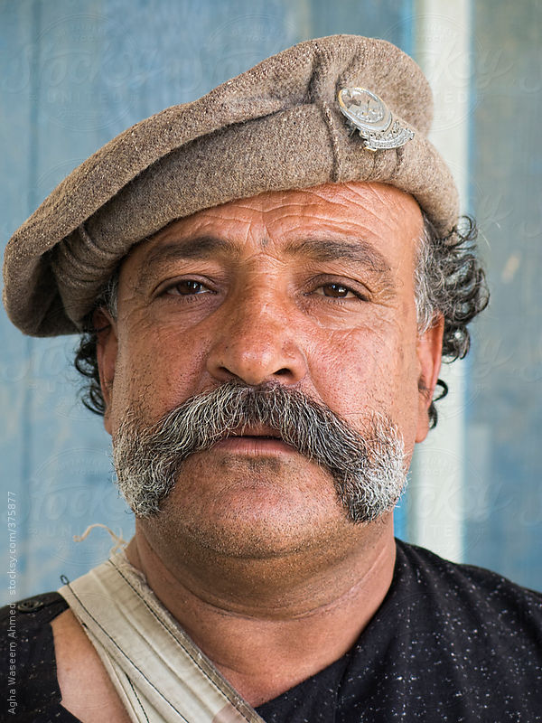 A Tribal Man With Huge Mustaches ! by Agha Waseem Ahmed