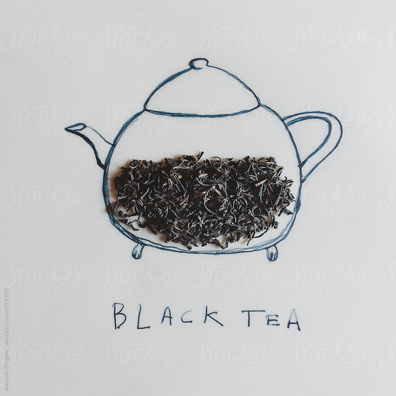 Black tea and teapot concept by Alessio Bogani