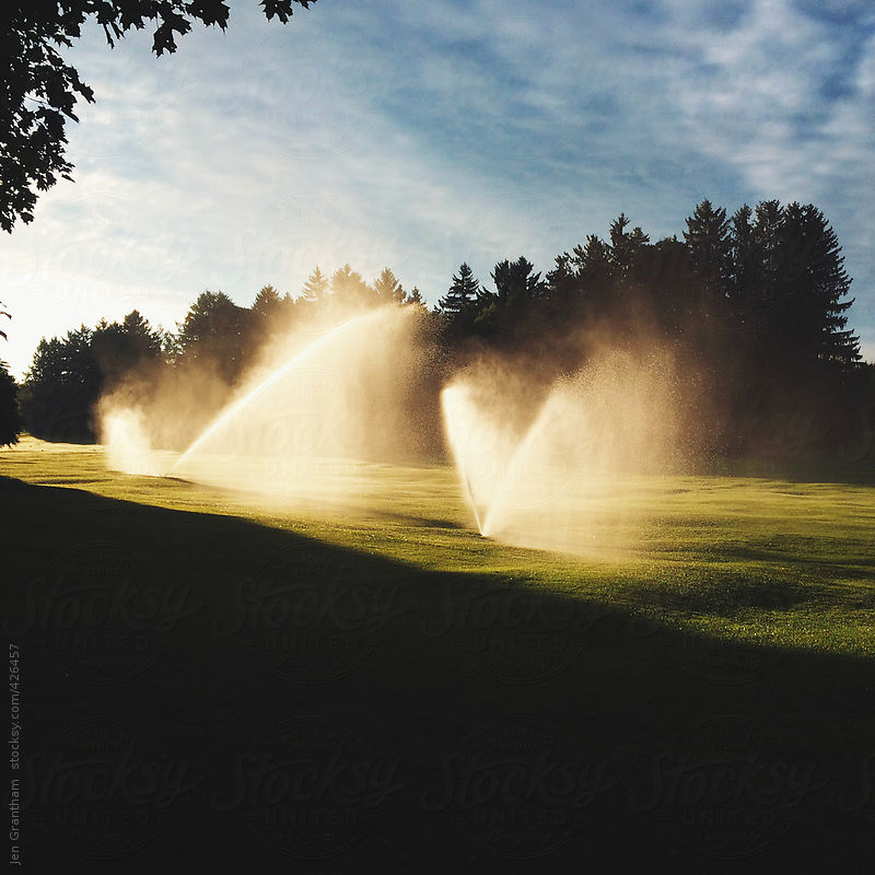 Golf Course Sprinklers by Jen Grantham