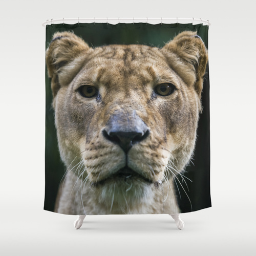 Lion Shower Curtain @ Society6
