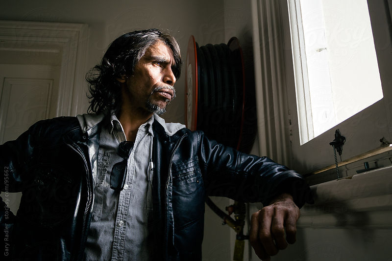 Aboriginal Man in his Late 40s by Gary Radler Photography