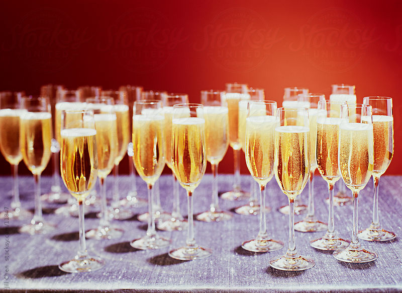 Champagne Grouping by Jill Chen