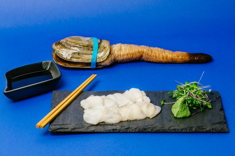 "Geoduck Sashimi from ""6 Disastrous Dishes to Avoid on Valentine's Day."""