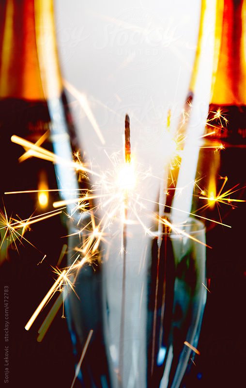 fireworks and champagne by Sonja Lekovic