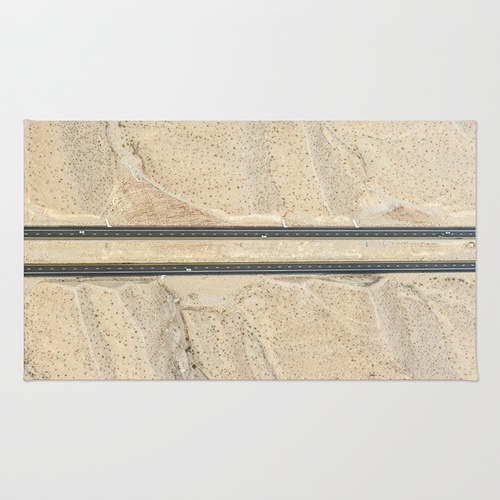 Nevada highway photo print rug