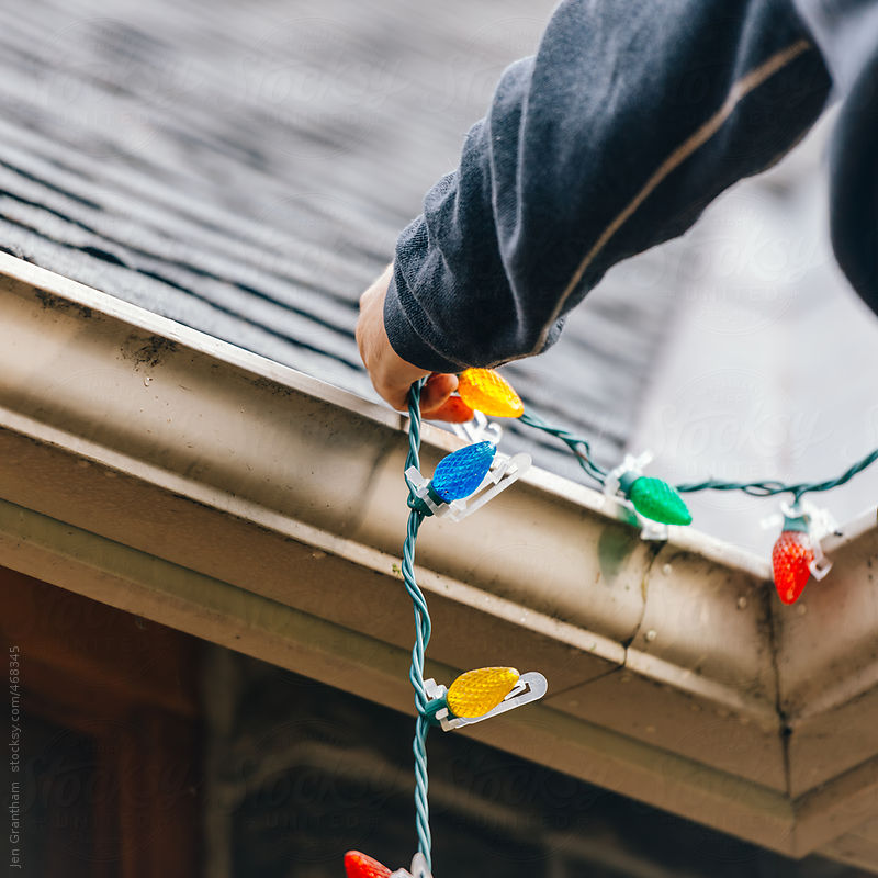 Hanging the Christmas Lights by Jen Grantham
