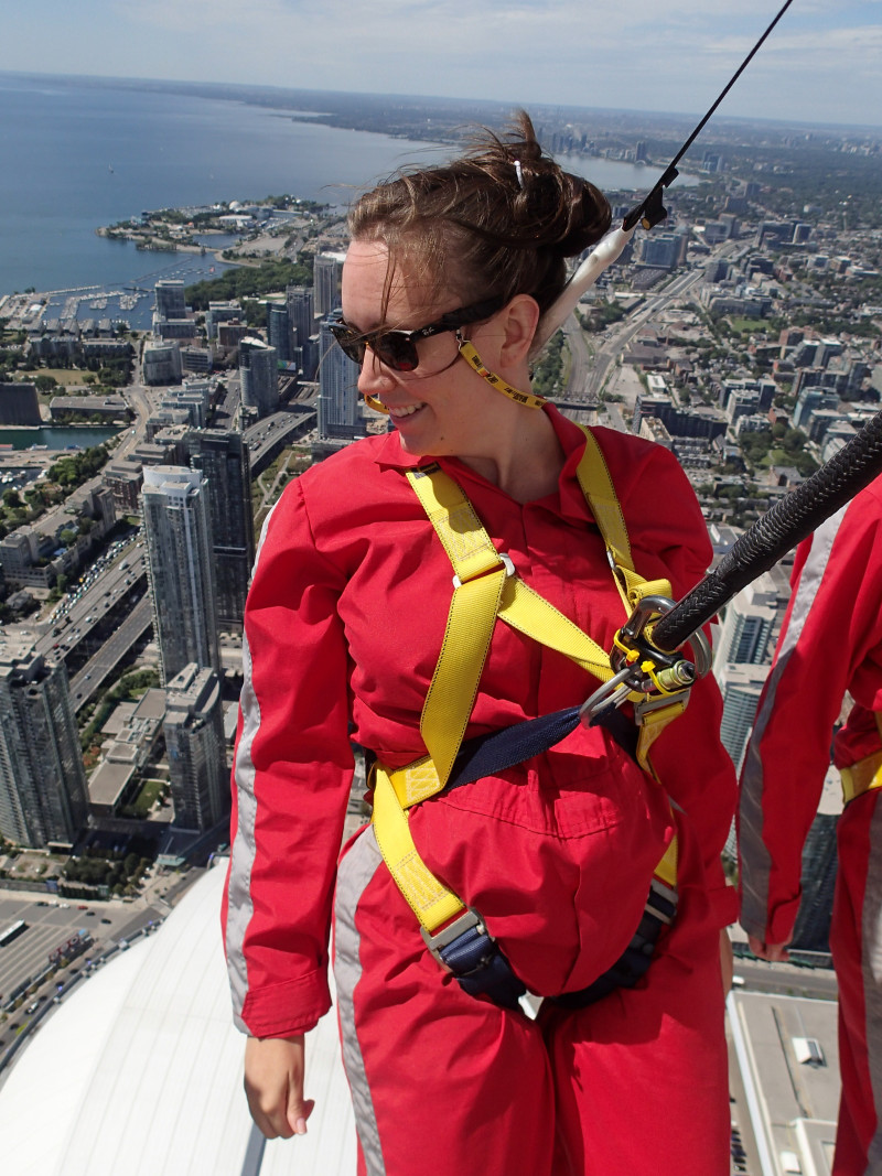 Me at the CN Tower Edge Walk.
