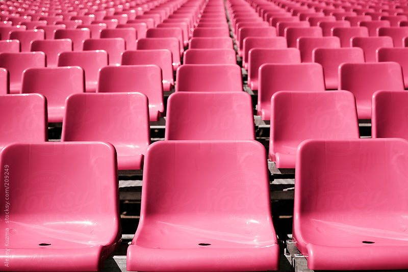 pink seats by Alexey Kuzma