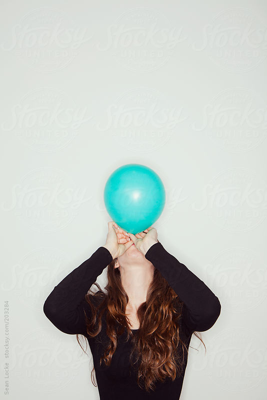 Portraits: Blowing Up A Balloon by Sean Locke