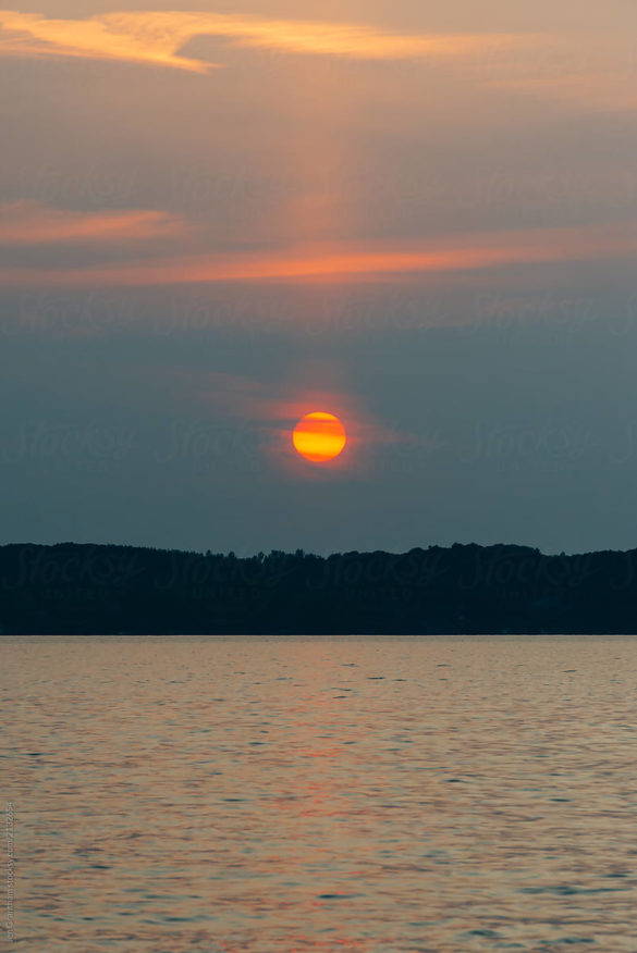 Sunset Over Kempenfelt Bay